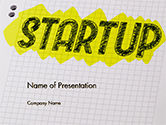 Business Concepts: Startup Hand Drawn Label on Paper PowerPoint Template #14729