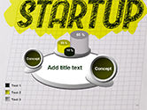 Startup Hand Drawn Label on Paper PowerPoint Template#13