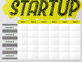 Startup Hand Drawn Label on Paper PowerPoint Template#15