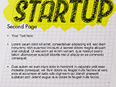 Startup Hand Drawn Label on Paper PowerPoint Template#2