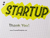 Startup Hand Drawn Label on Paper PowerPoint Template#20