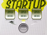 Startup Hand Drawn Label on Paper PowerPoint Template#4