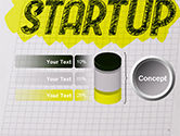 Startup Hand Drawn Label on Paper PowerPoint Template#8