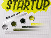 Startup Hand Drawn Label on Paper PowerPoint Template#9