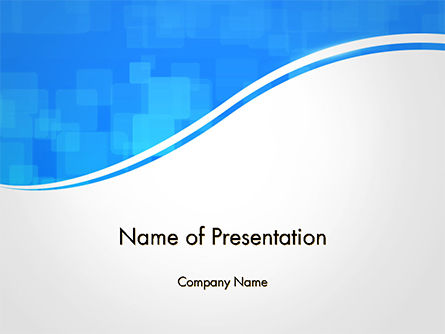 Gray Wave on Blue Background PowerPoint Template, 14730, Abstract/Textures — PoweredTemplate.com