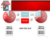 Canopy over Stall and Target with Arrows PowerPoint Template#11