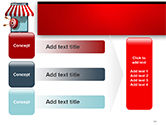 Canopy over Stall and Target with Arrows PowerPoint Template#12