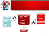 Canopy over Stall and Target with Arrows PowerPoint Template#13