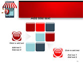 Canopy over Stall and Target with Arrows PowerPoint Template#16