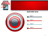 Canopy over Stall and Target with Arrows PowerPoint Template#9