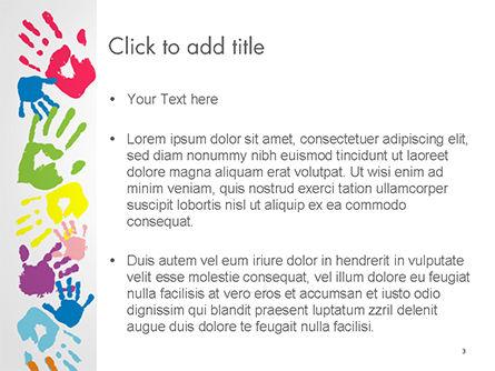 Frame Made of Colorful Handprints PowerPoint Template, Slide 3, 14733, Religious/Spiritual — PoweredTemplate.com