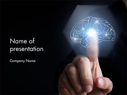 Man Touching an Artificial Intelligence Concept PowerPoint Template