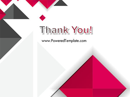 Origami Style Abstract Background PowerPoint Template Slide 20