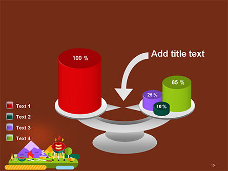 BBQ Picnic Illustration PowerPoint Template Slide 10