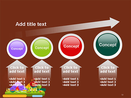 BBQ Picnic Illustration PowerPoint Template Slide 13