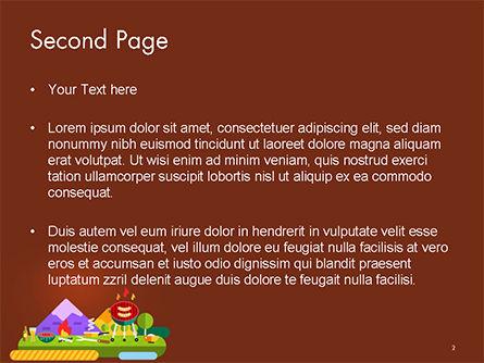 BBQ Picnic Illustration PowerPoint Template Slide 2
