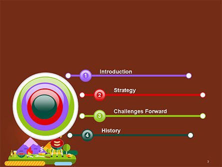 BBQ Picnic Illustration PowerPoint Template Slide 3