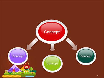 BBQ Picnic Illustration PowerPoint Template Slide 4
