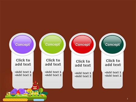 BBQ Picnic Illustration PowerPoint Template Slide 5