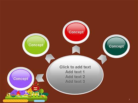 BBQ Picnic Illustration PowerPoint Template Slide 7