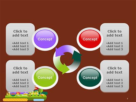 BBQ Picnic Illustration PowerPoint Template Slide 9