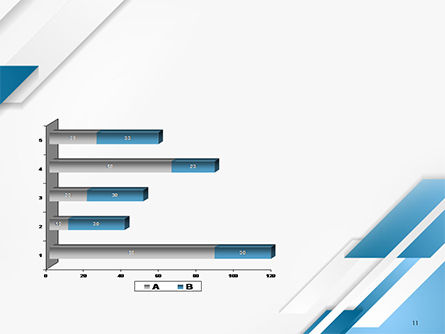 Abstract Parallel Diagonal Stripes PowerPoint Template Slide 11