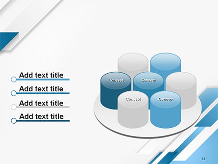 Abstract Parallel Diagonal Stripes PowerPoint Template Slide 12
