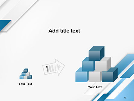 Abstract Parallel Diagonal Stripes PowerPoint Template Slide 13