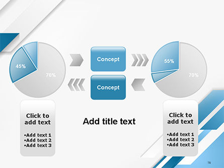 Abstract Parallel Diagonal Stripes PowerPoint Template Slide 16