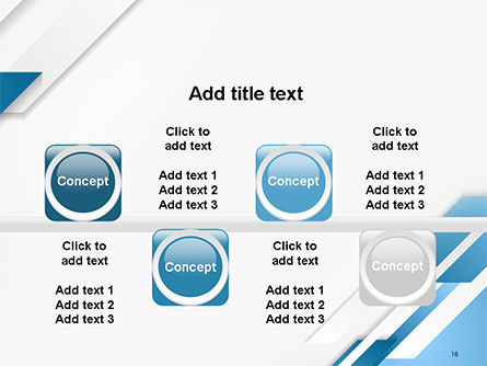 Abstract Parallel Diagonal Stripes PowerPoint Template Slide 18