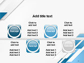 Abstract Parallel Diagonal Stripes PowerPoint Template#18