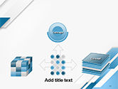 Abstract Parallel Diagonal Stripes PowerPoint Template#19