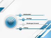 Abstract Parallel Diagonal Stripes PowerPoint Template#3