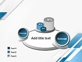 Abstract Parallel Diagonal Stripes PowerPoint Template#6