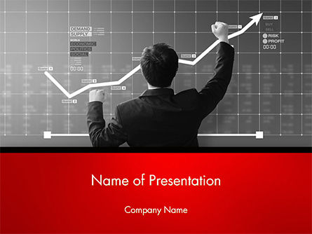 Business Man Glad About Corporate Profits PowerPoint Template, 14742, Business — PoweredTemplate.com
