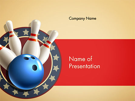 3D: Bowling Illustration PowerPoint Template #14743