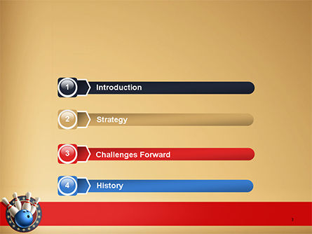 Bowling Illustration PowerPoint Template Slide 3