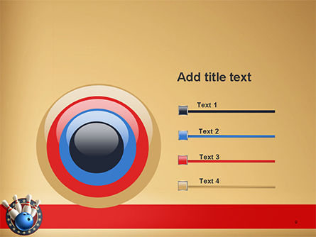 Bowling Illustration PowerPoint Template Slide 9