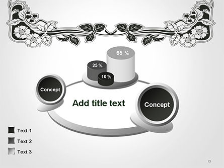 Floral Black and White Border PowerPoint Template Slide 13
