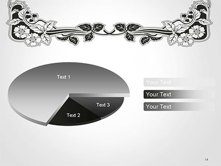 Floral Black and White Border PowerPoint Template Slide 14
