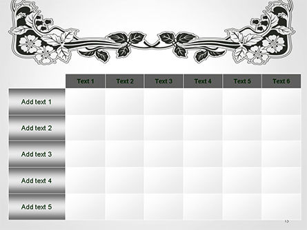 Floral Black and White Border PowerPoint Template Slide 15
