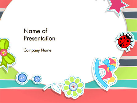 Holiday/Special Occasion: Colorful Baby Shower Invitation PowerPoint Template #14749