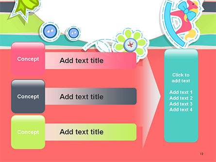 Colorful Baby Shower Invitation PowerPoint Template Slide 12