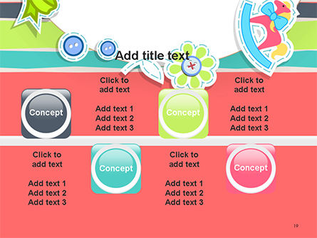 Colorful Baby Shower Invitation PowerPoint Template Slide 19