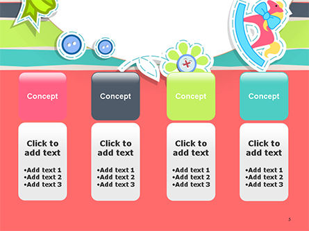 Colorful Baby Shower Invitation PowerPoint Template Slide 5