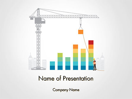 Building Business Graph PowerPoint Template, 14750, Construction — PoweredTemplate.com