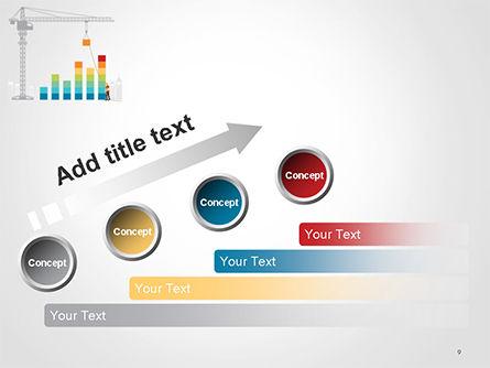 Building Business Graph PowerPoint Template Slide 9