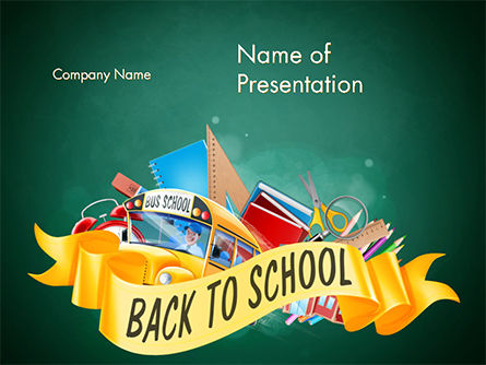 Back to School Theme PowerPoint Template