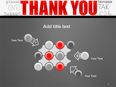 Thank You Word Cloud in Different Languages PowerPoint Template Slide 10