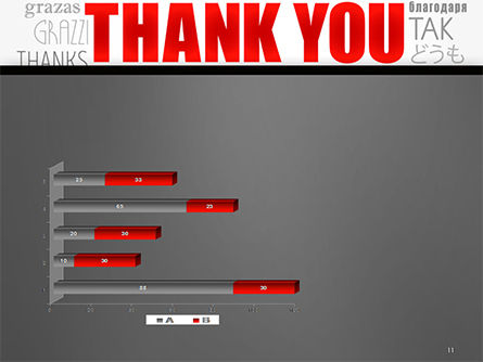 Thank You Word Cloud in Different Languages PowerPoint Template Slide 11